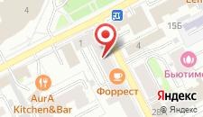 Отель Номера на Сибирской на карте