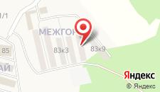 Загородный отель Межгорье на карте
