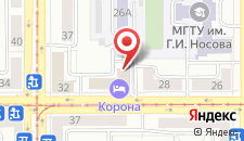 Гостиница Корона на карте