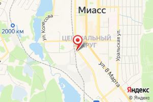 Адрес Филиал Газпром газораспределение Челябинск в городе Миассе на карте