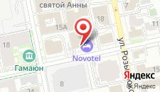 Гостиница Novotel Екатеринбург Центр на карте