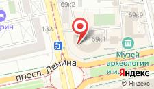 Гостиница Исеть на карте