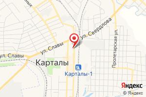 Адрес Участок по сбыту электроэнергии в Карталинском районе Уральская энергосбытовая компания на карте