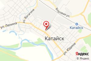 Адрес Газпром межрегионгаз Курган, абонентская служба, Шадринский участок, пункт Катайск на карте