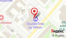 Отель Doubletree By Hilton Tyumen на карте