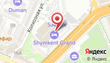 Отель Шымкент на карте