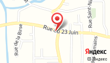 Гостевой дом Hôtel de L'Ours на карте