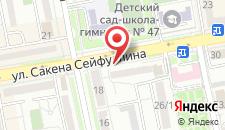 Гостиница Алтын Адам на карте