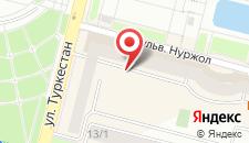 Апартаменты в Нурсая на карте