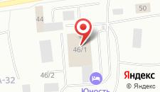Гостиница Юность на карте