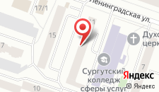 Гостиница Янтарь на карте