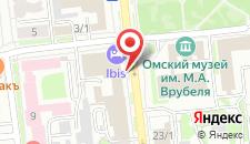 Гостиница Ибис Сибирь на карте