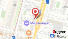 Гостиница Миллениум у ЖД вокзала на карте