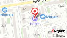 Мини-отель Полет на карте