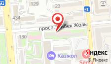Апартаменты в Жибек Жолы на карте
