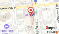 Отель Достык на карте
