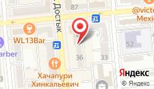 Апартаменты на Достык 36 на карте