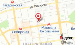 Расположение Новосибирские городские электрические сети на карте
