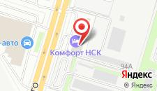 Отель Комфорт Инн на карте