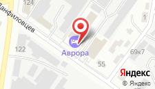 Гостиница Аврора на карте