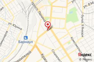 Адрес Газпром межрегионгаз Новосибирск, филиал в Алтайском крае на карте