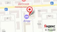 Гостиница Атом на карте