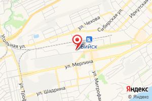 Адрес Газпром межрегионгаз Новосибирск, филиал в Алтайском крае, Абонентский пункт в г. Бийск на карте