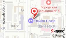 Гостиница Олимп-Плаза на карте