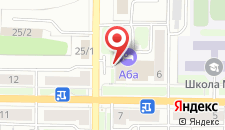 Отель Аба на карте