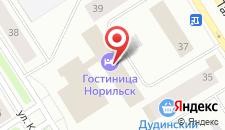 Отель Норильск на карте