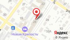 Гостиница Новая Крепость на карте