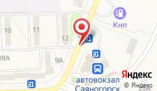 Гостиница Енисей на карте