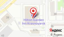 Отель Hilton Garden Inn Красноярск на карте