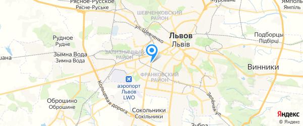 Менс-Сервис на карте Львова