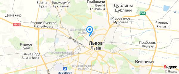 СКТ на карте Львова