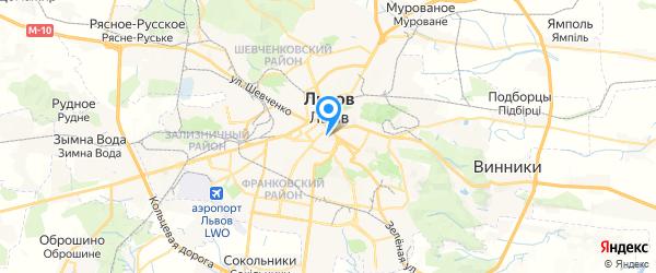 Посейдон на карте Львова