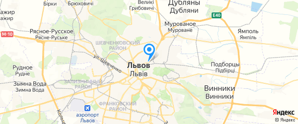 Рестор-Сервис  СПД Потапенко на карте Львова
