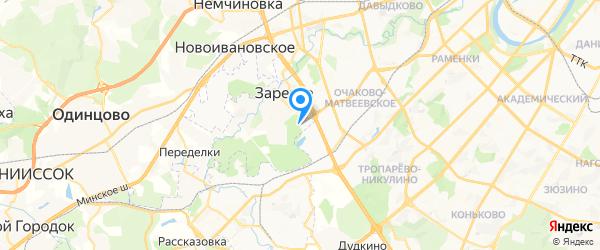 Кон на карте Москвы