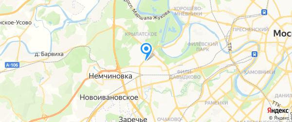 Ателье на Ярцевской на карте Москвы