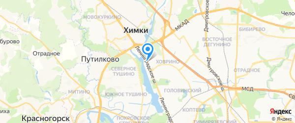 Беламос на карте Москвы