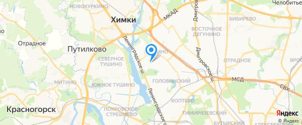 Центр Климат на карте Москвы