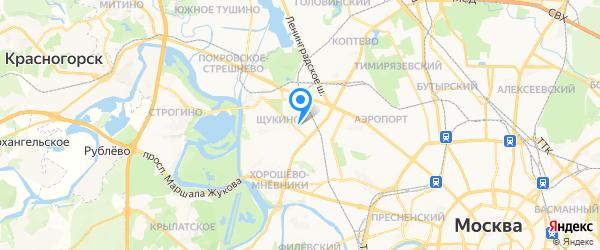 Амфитон на карте Москвы