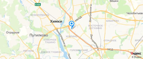Сервис Слаир на карте Москвы