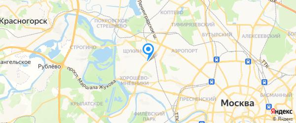 Сервис Контакт на карте Москвы