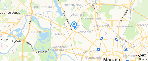 Про-Сервис на карте Москвы