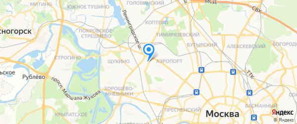 Элион на карте Москвы