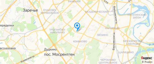 ГЕАНАЛ на карте Москвы