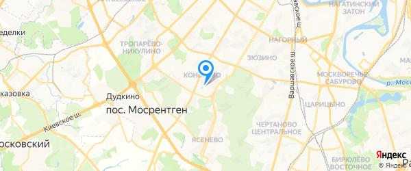 Круг на карте Москвы