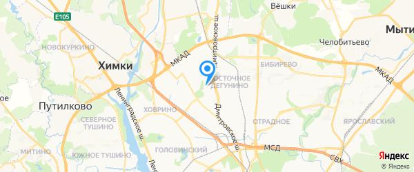 Теледоктор на карте Москвы