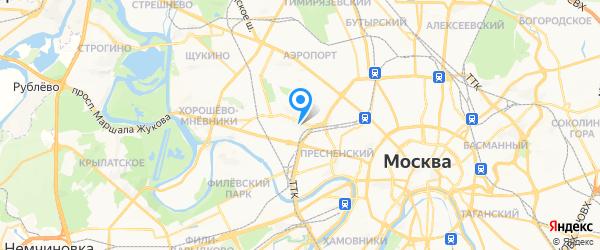Кватрон на карте Москвы